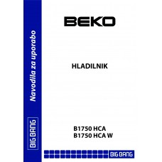 BEKO B 1750 HCA Fridge Freezer