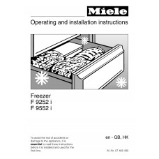 Miele F 9252 I Vertical Fridge